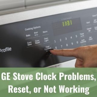 Finger adjusting stove clock and settings
